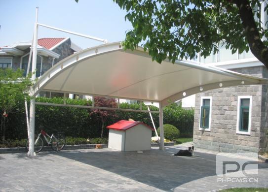 别墅膜结构车棚,膜结构车棚订制,膜结构车棚设计