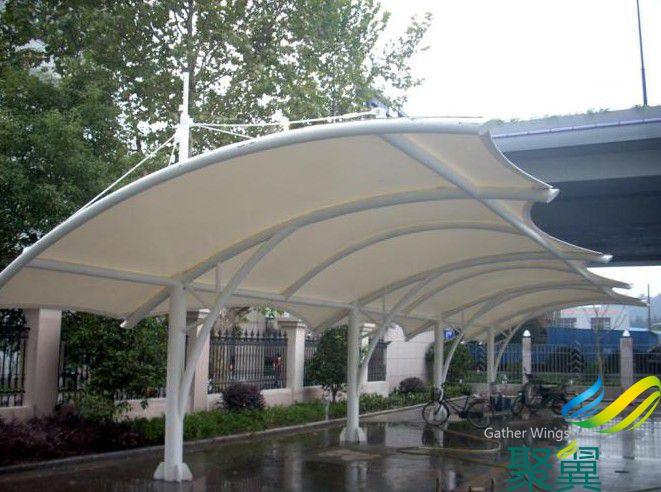 停车膜结构雨棚,膜结构雨棚