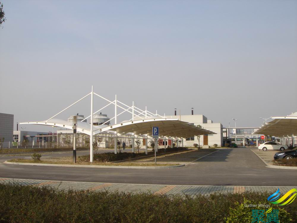 露天遮阳膜结构停车场车棚