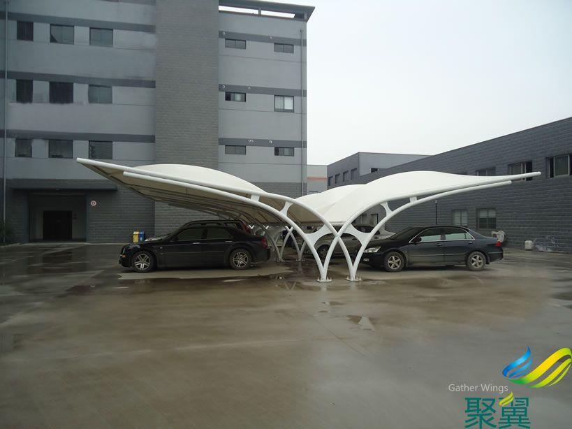 商业办公楼汽车膜结构停车棚
