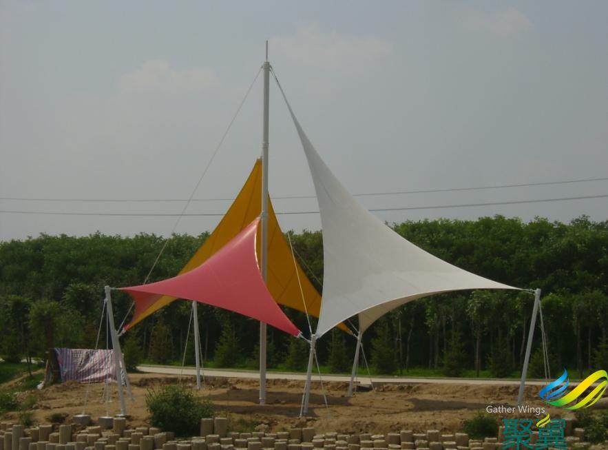 JY100系列景观膜结构(红、白、黄)配色景观