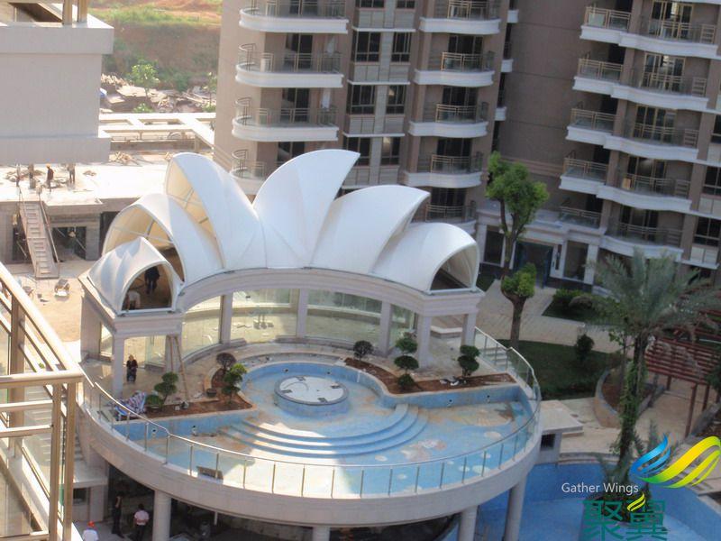 房顶建筑膜结构|楼顶景观膜