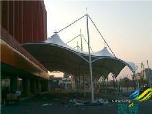 商业街膜结构景观棚_公园阳光棚
