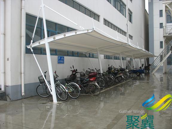 自行车棚_膜结构自行车棚_膜结构自行车棚款式