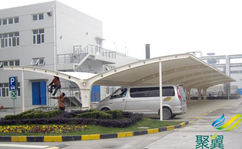 PVDF比利时进口膜布汽车雨篷,膜布汽车雨篷采用希运B6101