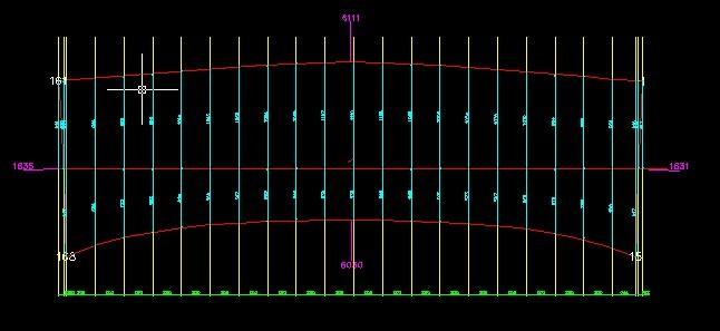 高尔夫发球台膜结构膜布裁剪图