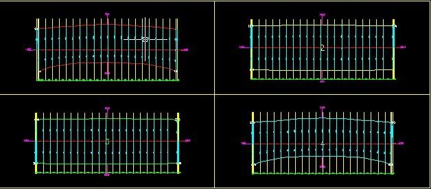 高尔夫发球台膜结构膜布裁剪图2