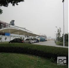 聚翼膜结构车棚价格最透明3