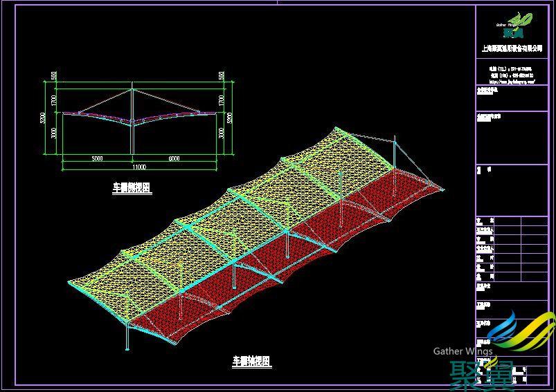 吴江绿地集团车棚款式免费设计绿地集团膜结构车棚施工