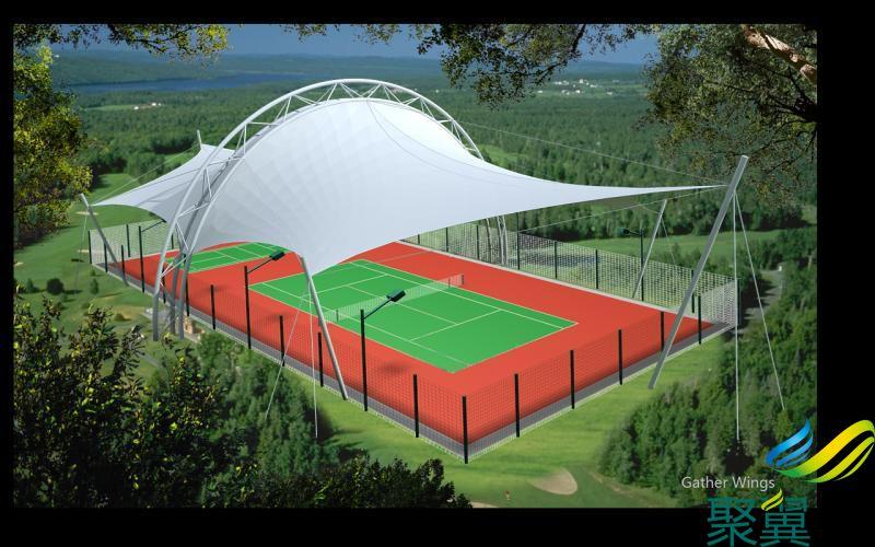 上海膜结构,网球场膜结构,建筑膜结构
