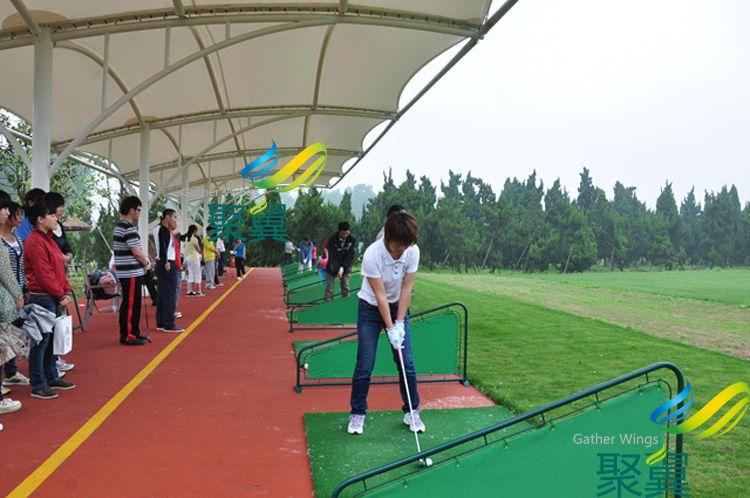 昆山高尔夫球场膜结构雨篷细节