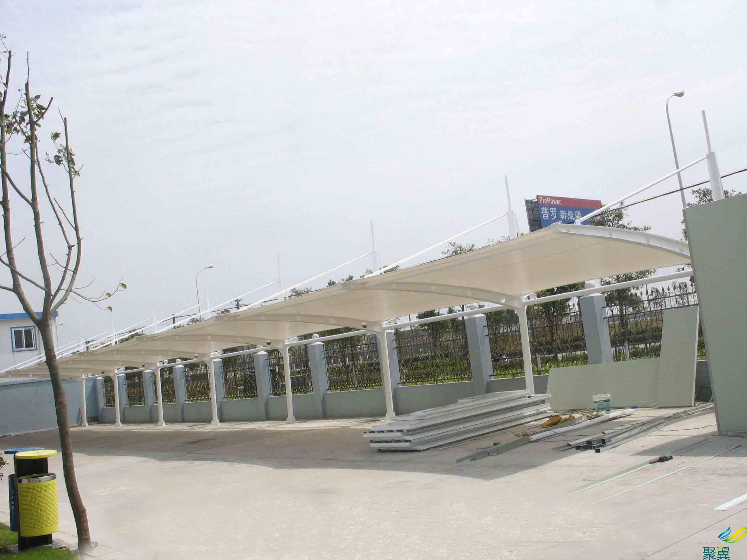 膜结构停车篷,膜结构车篷
