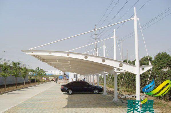上海膜结构车棚,膜结构车棚