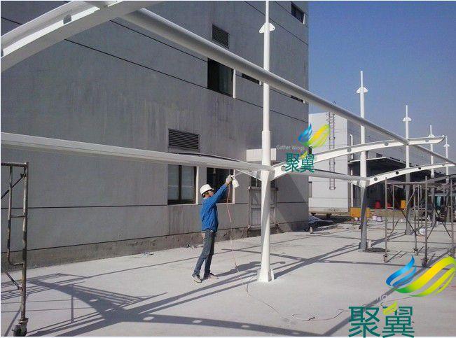 上海松江小区膜结构车棚搭建
