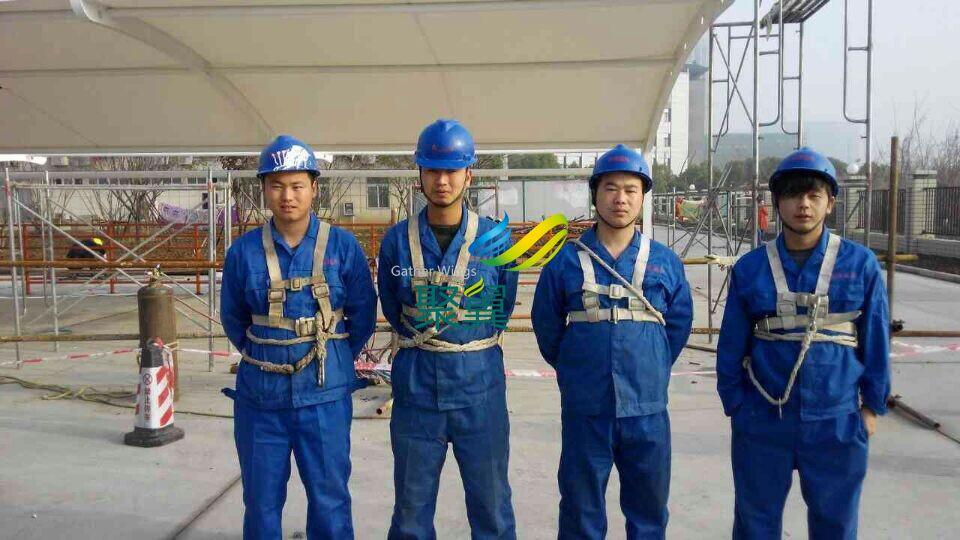 南京膜结构车棚施工案例