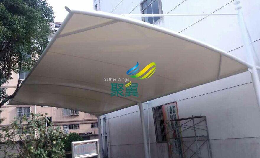 绍兴南瑞实验学校汽车停车棚安装