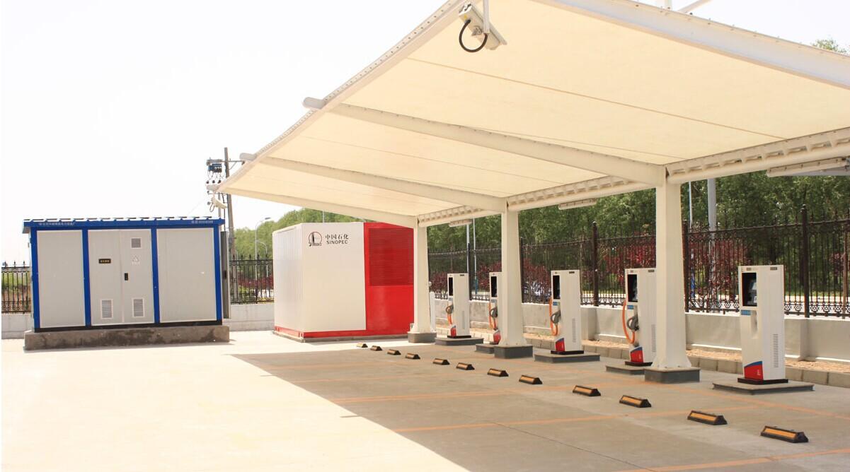 膜结构材质充电电动车停车棚