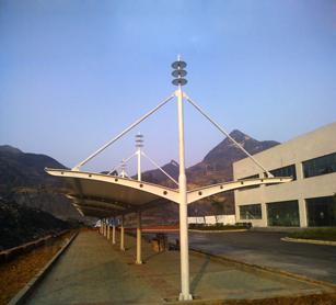 贵州六盘水虹桥新区西南天地JY30Z膜结构自行车棚工程案例