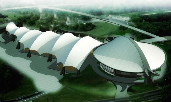 大型膜结构走廊工程|膜结构连廊|膜结构长廊