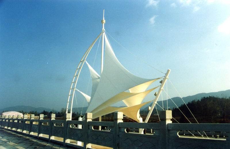 公园连体景观膜结构 张拉膜结构连体建筑 型号JY-100CD