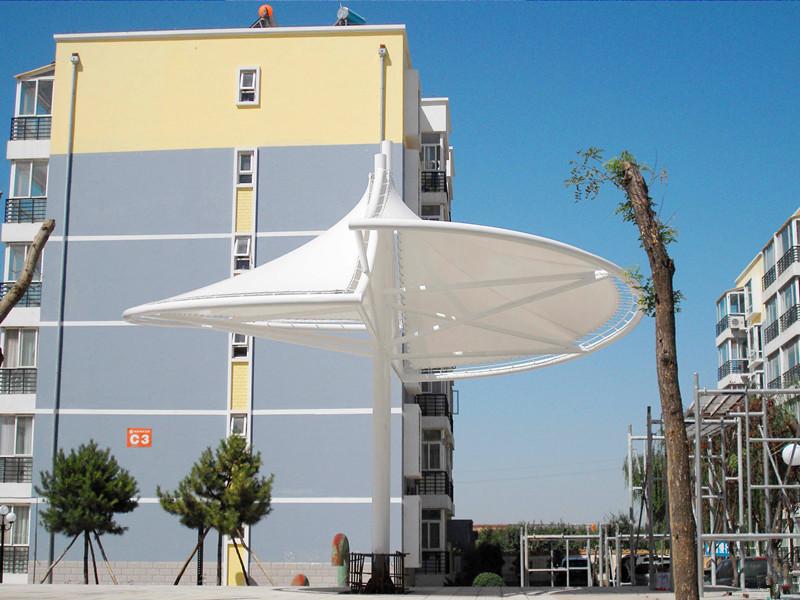 膜结构景观棚户外大型膜结构膜伞 型号JY-100MS