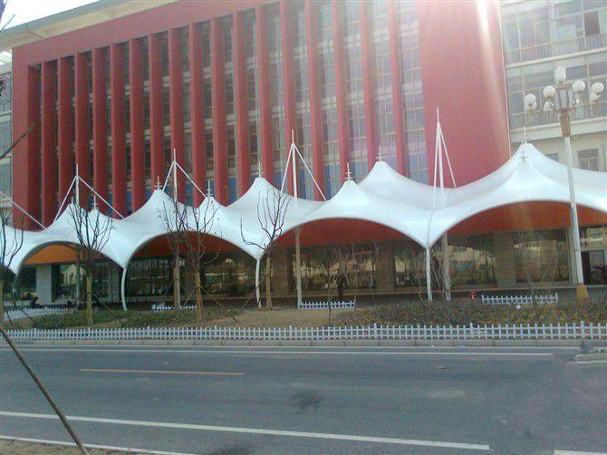 商业休闲街膜结构景观 商场遮阳棚系列JY-100S