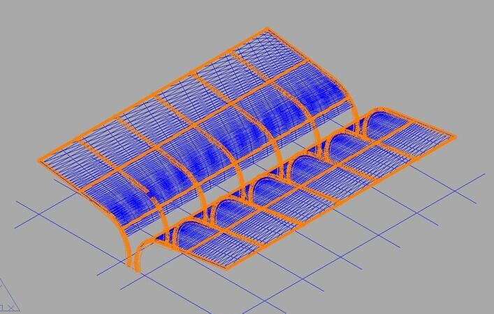 膜结构车棚CAD