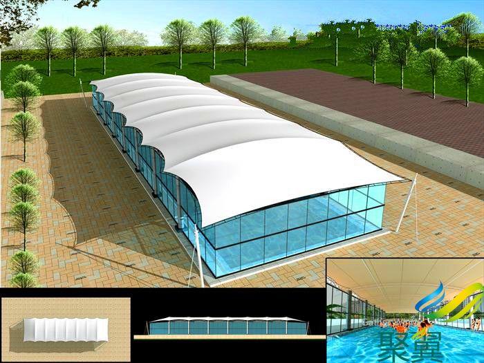 宁波泳池膜结构工程聚翼膜结构厂家直销夏日避暑优选遮
