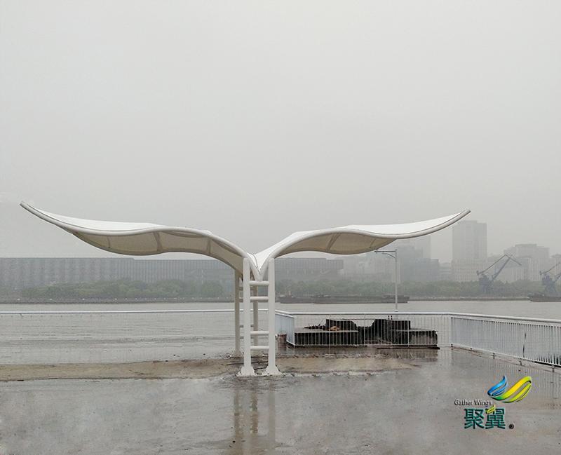 上海外滩景观膜结构_飞翼景观膜结构_景观张拉膜结构定制