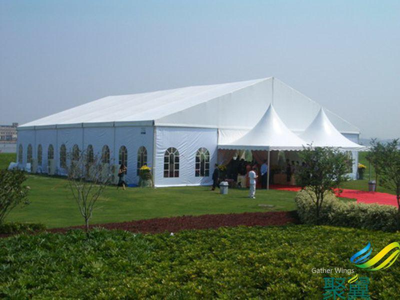 聚翼膜结构遮阳棚 户外大型专用篷房 安装简单使用方便