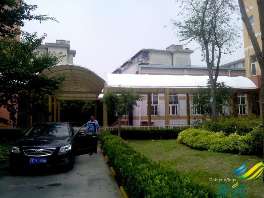 上海嘉定真新小学过道膜结构案例 过道膜结构免费测量