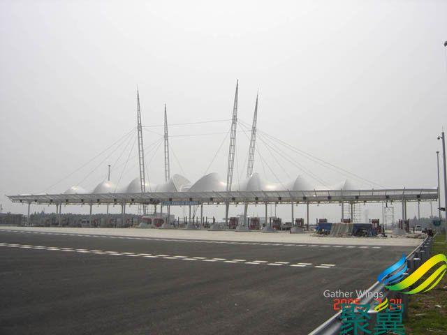 上海聚翼膜结构收费站环保美观