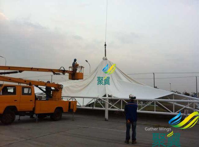 江苏常熟经济开发区工业园屋顶蓬成功案例