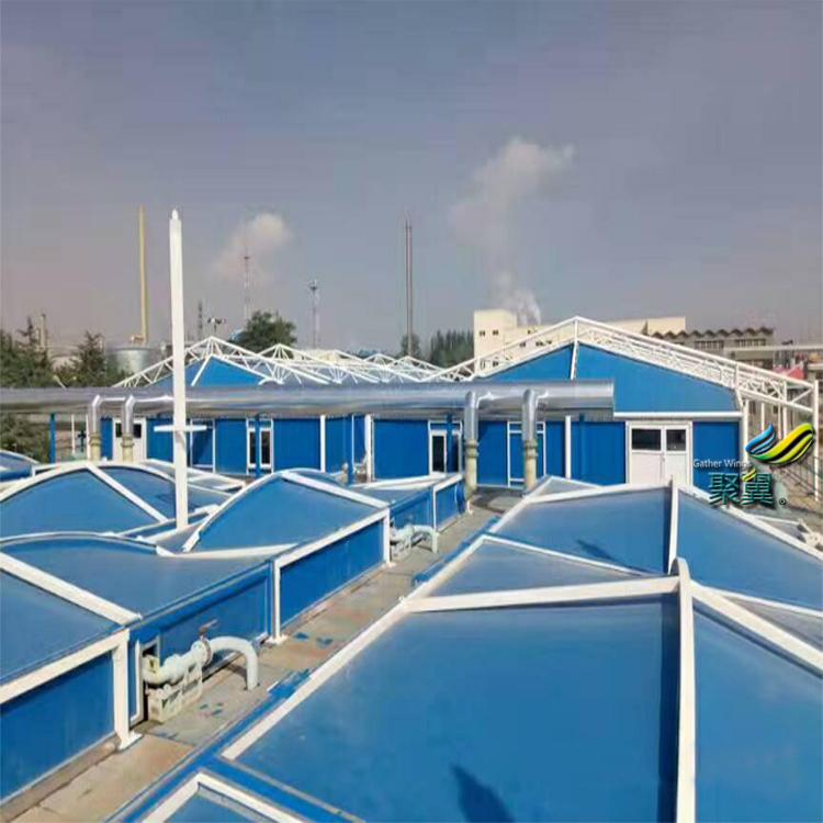 污水池盖膜,污水池顶棚,污水池膜结构