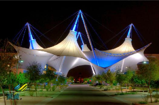 景观膜结构自然,景观膜结构大跨度,灯光效果好