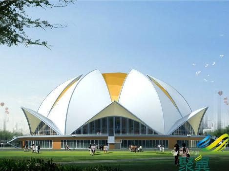 聚翼膜结构景观设计,建筑膜结构,膜结构景观遮阳棚