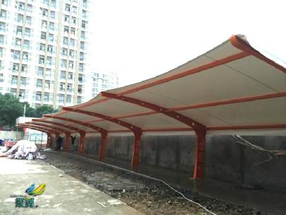 膜结构车棚停车棚*膜结构车棚停车棚优缺点