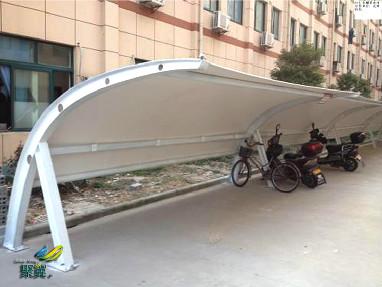 膜结构自行车棚越来越受欢迎和大众的青睐