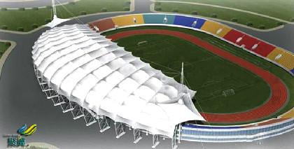 大型膜结构体育馆*大型膜结构体育馆自身拉力强,国外进口