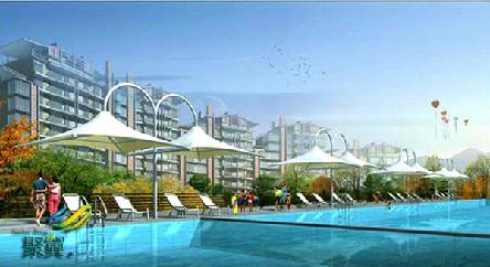 泳池膜结构的施工安装*泳池膜结构聚翼专业设计一条龙服务