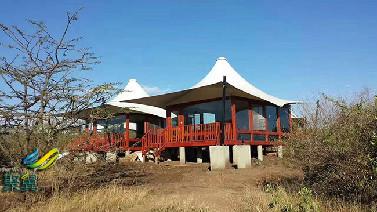 户外酒店屋顶张拉膜结构