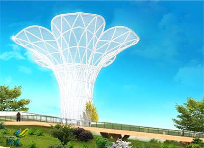 膜结构建筑膜材防紫外线 膜结构建筑造型优美