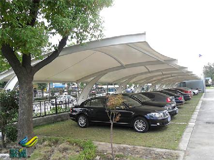 高品质、美观便捷的新型膜结构车棚