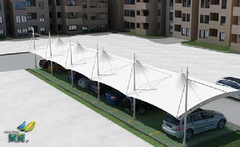膜结构车棚工程介绍*膜结构车棚型钢构件材质