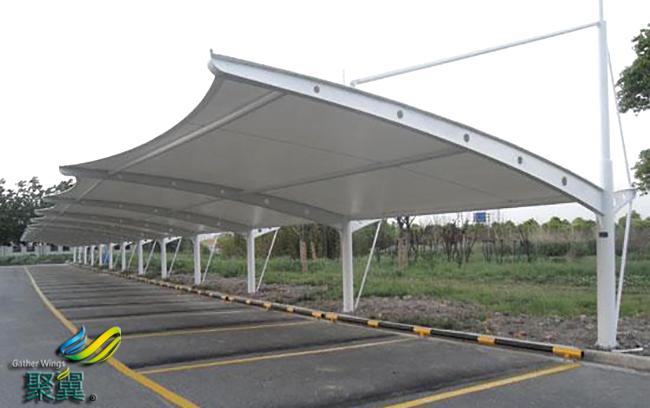 膜结构车棚成为现代社区生活必备之选