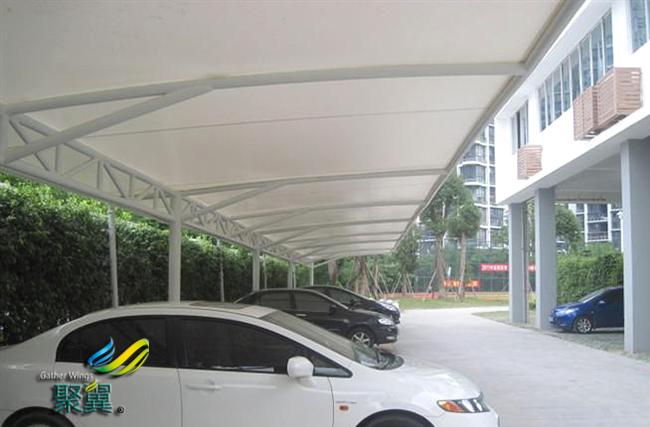 膜结构车棚工程施工测量|膜结构车棚建筑风格