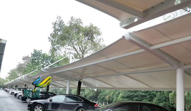 膜结构车棚的排水系统及膜结构车棚安装