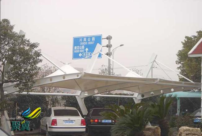 膜结构车棚建筑形态艺术化