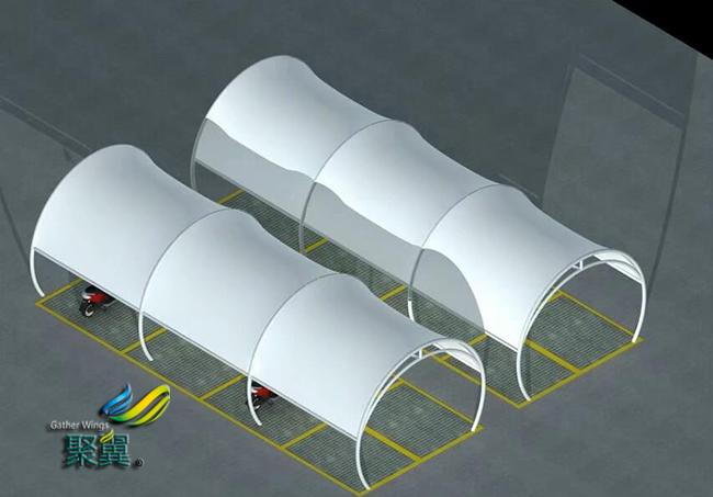 膜结构车棚构造|膜结构车棚高效美观