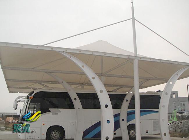 膜结构车棚新型产物|膜结构车棚第四代建筑